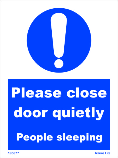Mss Mandatory Action Signs Please Close Door Quietly