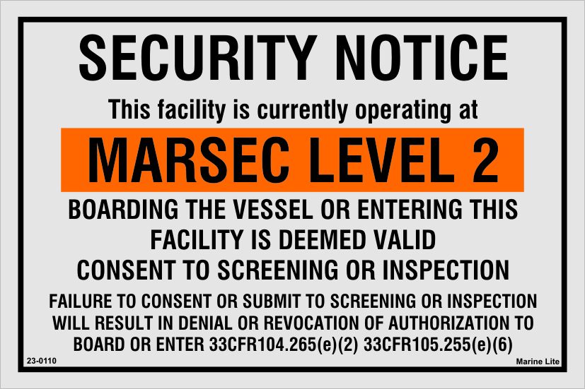 Isps Code Signs Security Notice Marsec Level 2 23 0110 2